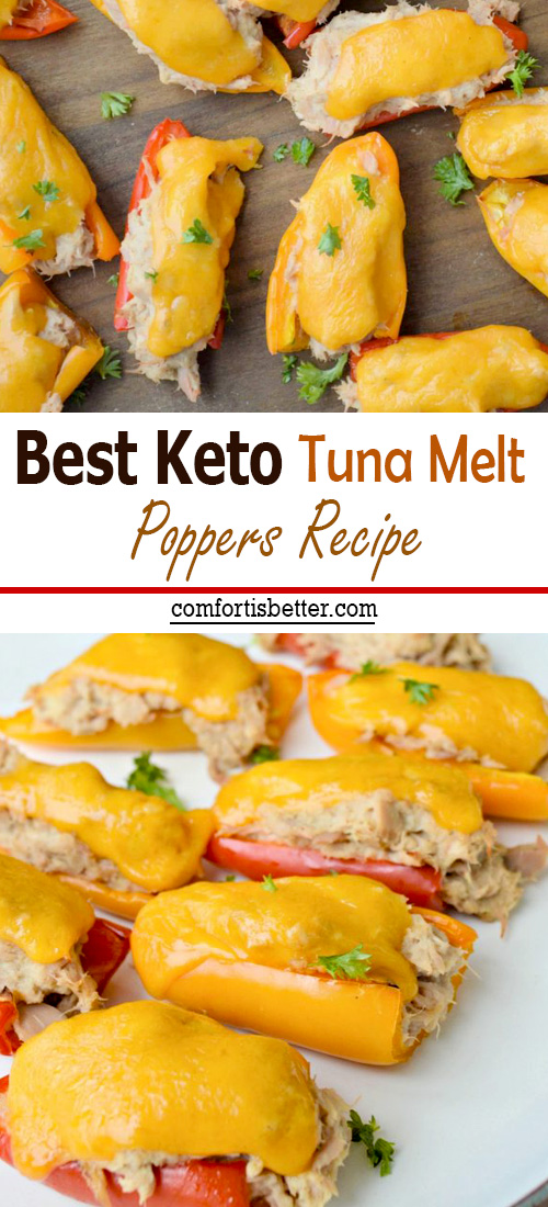 Best Keto Tuna Melt Poppers Recipe | Try serving these amazing Keto Tuna Melt Poppers as an appetizer at your next party, or as a healthy low carb snack for the family #keto #healthyrecipes