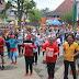 Antisipasi Virus Korona di Kabupaten Jember, Forkopimda Jember Senam Bersama Masyarakat Budayakan Cuci Tangan
