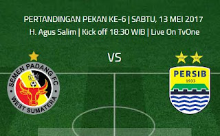 Semen Padang FC vs Persib Bandung - Jadwal Liga 1 Sabtu 13 Mei 2017