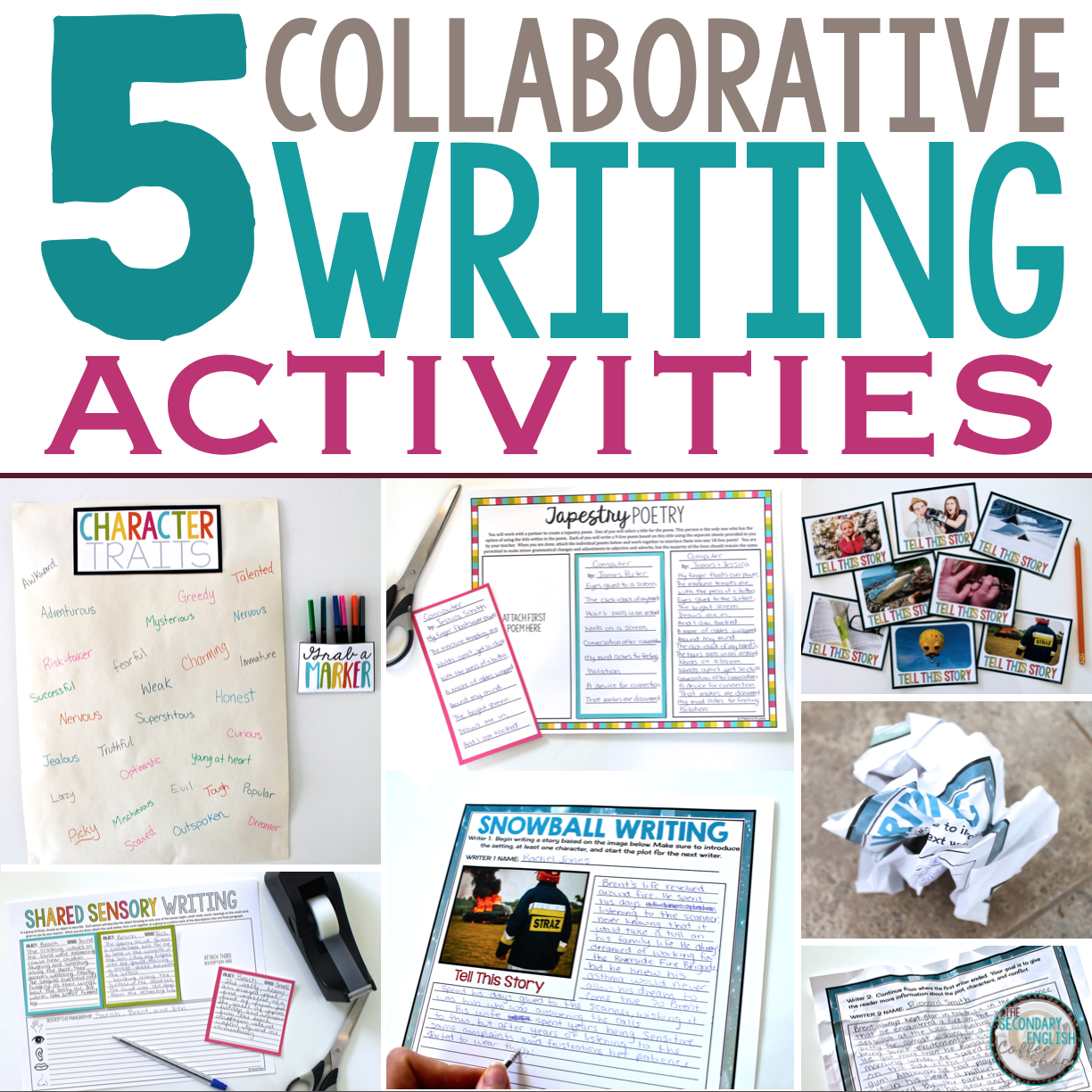 Collaborative Classroom Games ~ Collaborative writing activities the secondary english