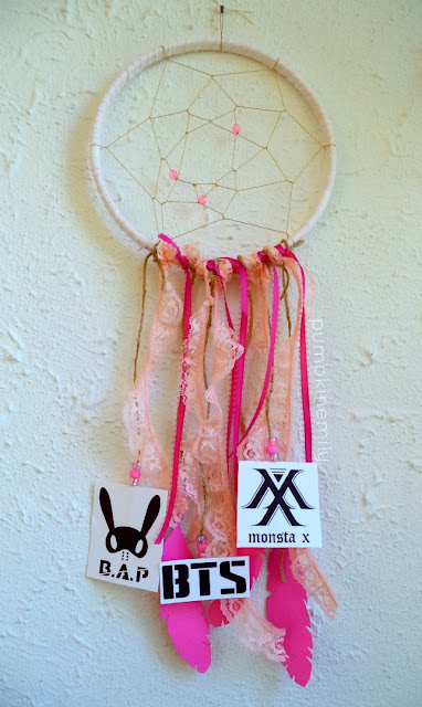 DIY Kpop Dreamcatcher