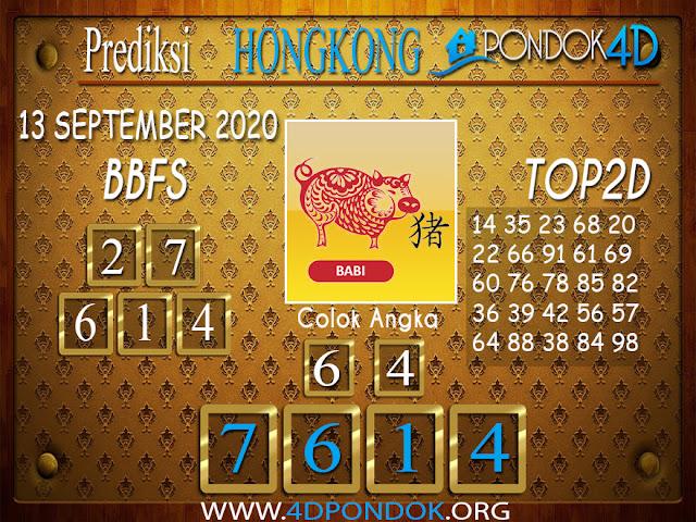 Prediksi Togel HONGKONG PONDOK4D 13 OKTOBER 2020