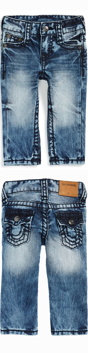 True Religion Brand Jeans 'Geno' Relaxed Slim Fit Jeans (Baby Boys)