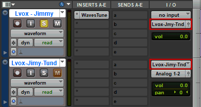 Copy one track to another in Avid Pro Tools