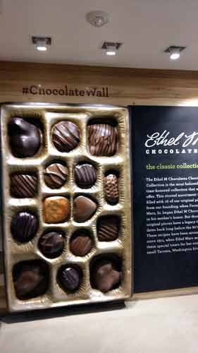 Chocolate Wall At Ethel M Factory.