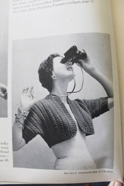 free vintage 1950s toss on bolero knitting pattern