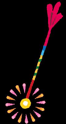 花火のイラスト「線香花火」