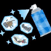 冷凍殺虫剤のイラスト
