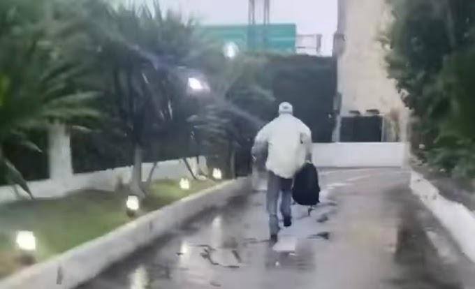 Idoso dá calote em acompanhante de luxo, que filma a fuga do cliente; veja vídeo