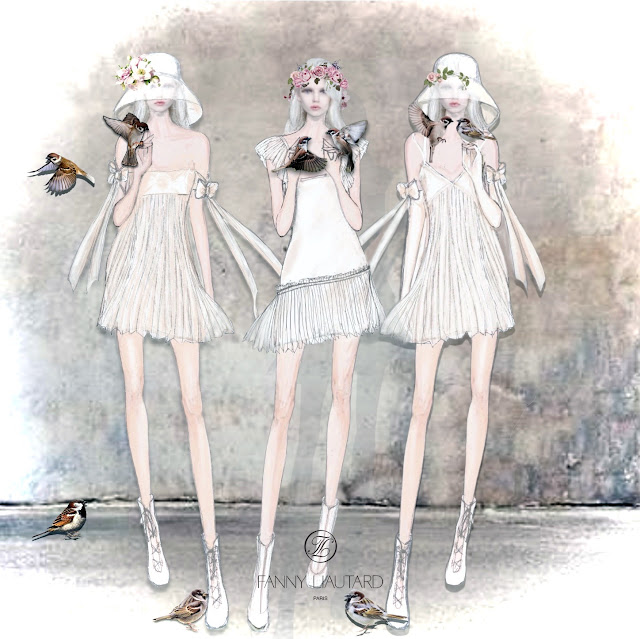 Petites robe blanches pour mariage civil @ Fanny Liautard