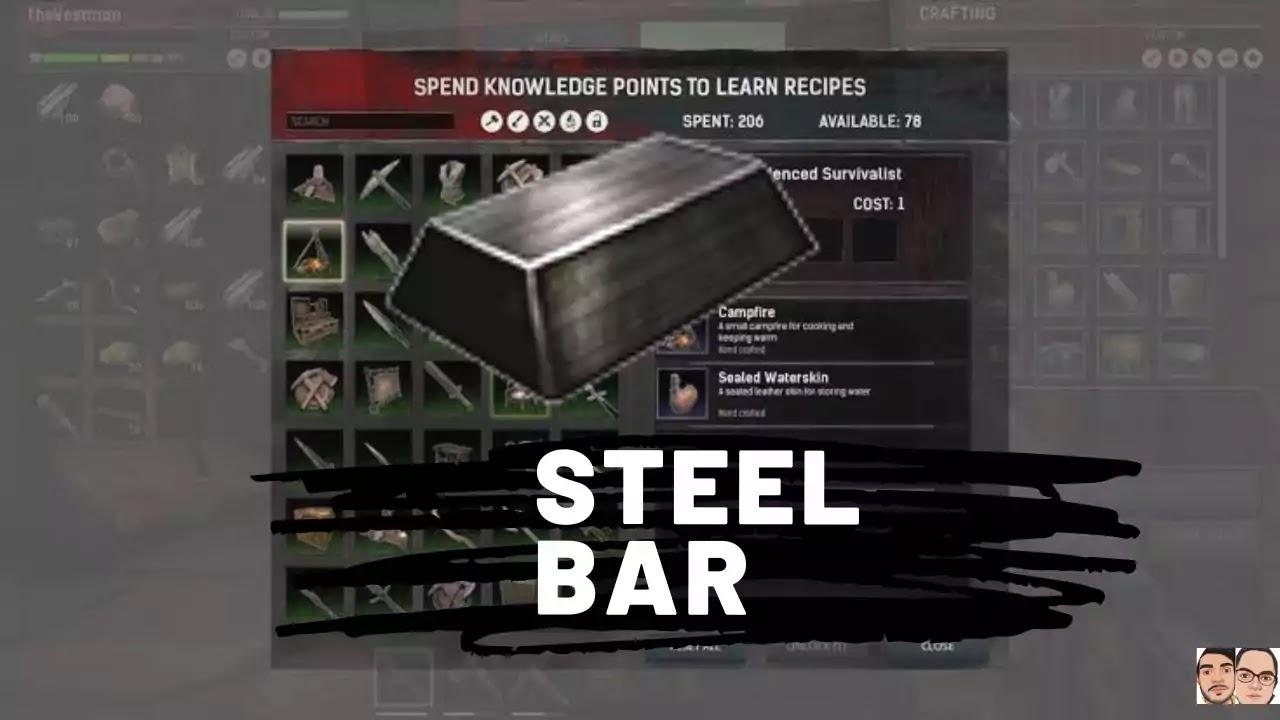 Conan Exile: Crafting steel bar