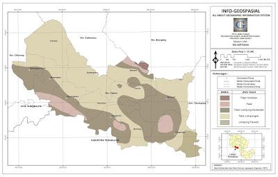 Peta Jenis Tanah Kecamatan Ciamis