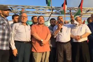 قادة حركة حماس في الخارج يشاركون في مسيرة العودة شرق القطاع..وهذا ما قالوه التفاصيل من هناا