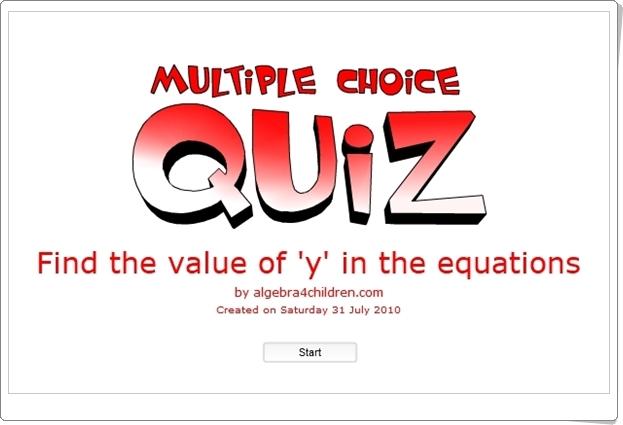 """Multiple Choice Quiz"" (Juego de Preálgebra)"