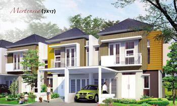 tampak depan rumah minimalis ukuran 7x17 meter 2 kamar tidur 2 lantai