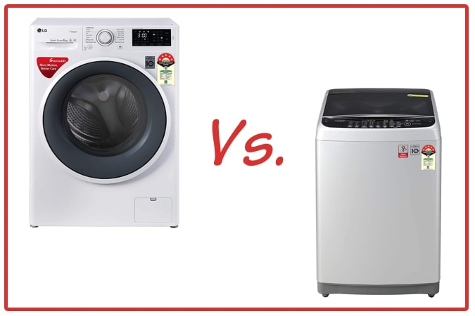 LG FHT1006ZNW (left) and LG T80SJSF1Z (right) Washing Machine Comparison.