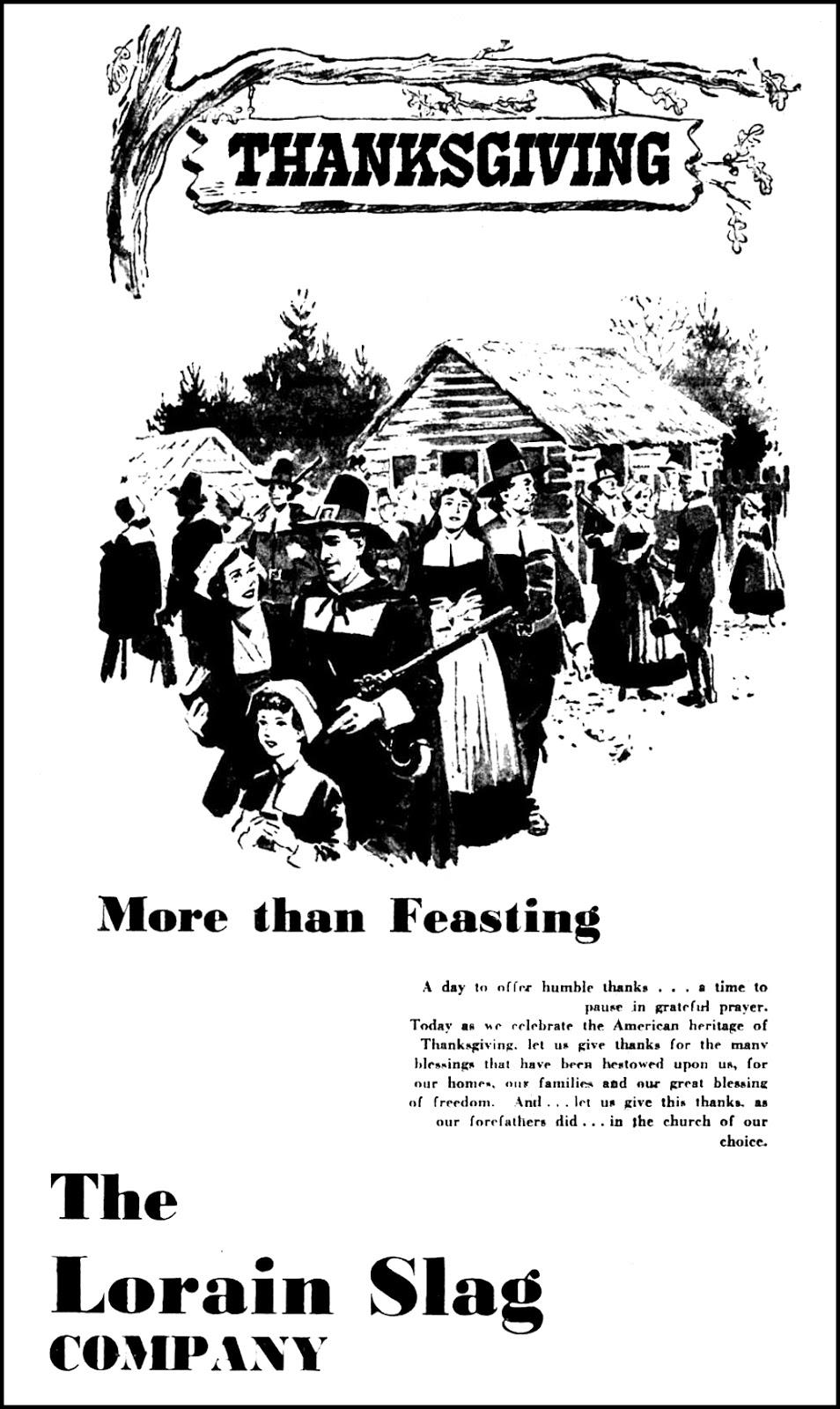 The Lorain Slag Company - published in the Lorain Journal - Lorain, Ohio U.S.A. - November 28, 1957