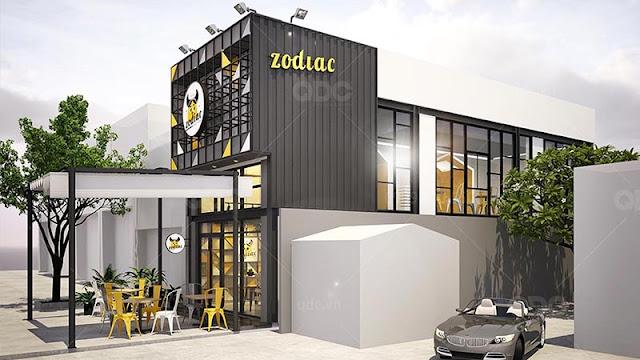 Mặt tiền nhà hàng Hàn Quốc Zodiac