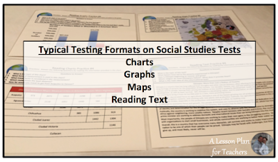 Tips for practicing skills in the Social Studies classroom to help with standardized test prep.