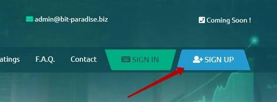 Регистрация в Bit Paradise