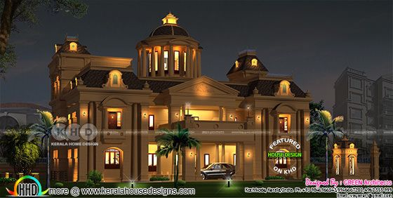 Luxurious Colonial model 7 BHK home design