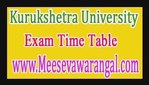 Kurukshetra University PGDEE / PGDJMC Part-1 / 2 Theory 2016 Exam Time Table