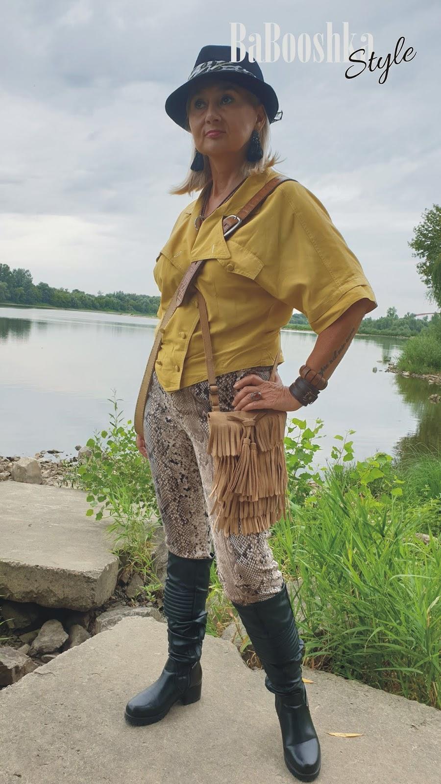 Babooshkastyle, zabawa modą, wyzwanie grupy, stylistka, styl safari, styl vintage, Stradivarius, CCC, polecam,