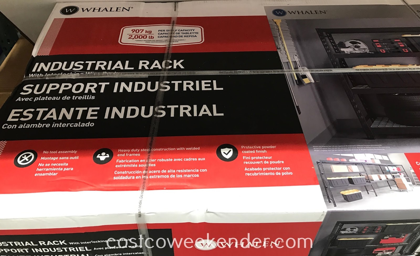 Get your garage the proper storage you need with the Whalen Industrial Rack