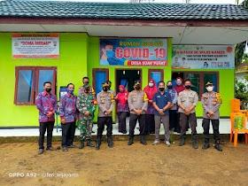Desa Suak Putat Siapkan Rumah Isolasi Covid 19, Kapolres Muaro Jambi Datang ke lokasi