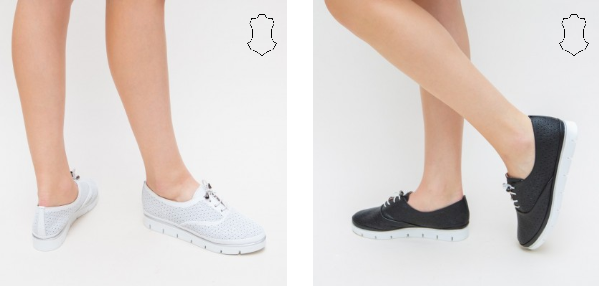 Pantofi casual albi, negri de dama la moda 2019
