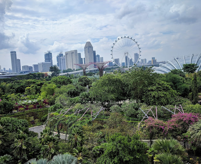 Gardens by the Bay panoramic view