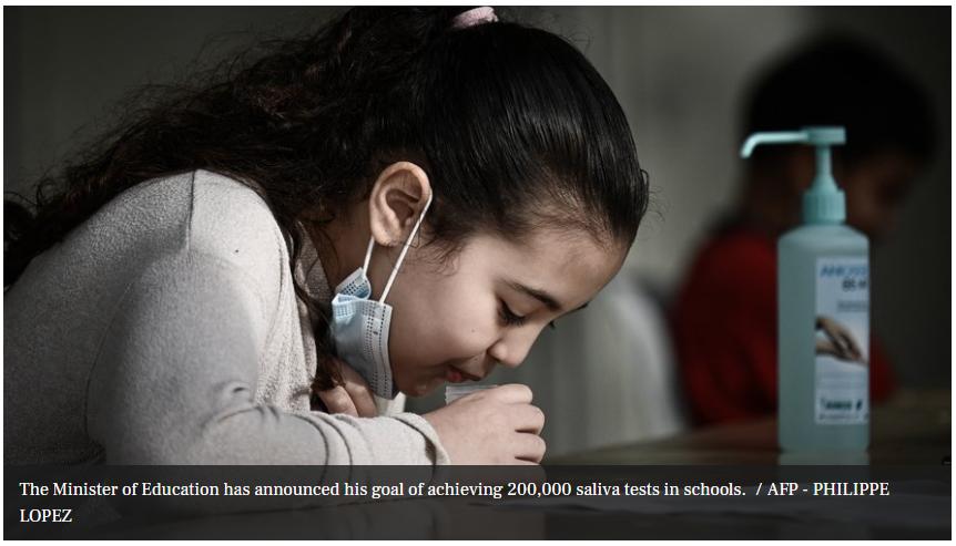 saliva tests in schools
