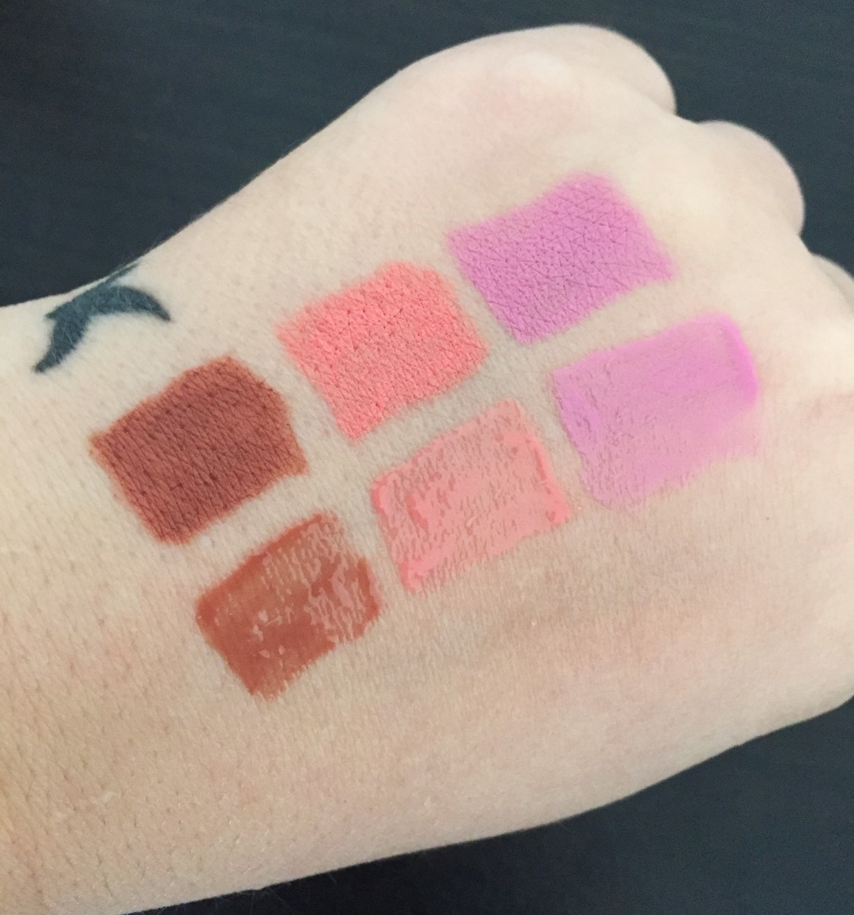 Lorac Lipstick and Glosses Swatches