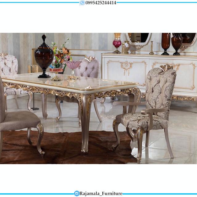 Meja Makan Mewah Terbaru Classic Luxury Carving Jepara RM-0602