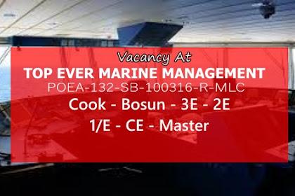 Hiring Crew For Oil Tanker, Bulk Carrier, Container Ships