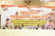 Musrenbang Polda Kalteng, Menjaga Stabilitas Kamtibmas dan Perekonomian Masyarakat