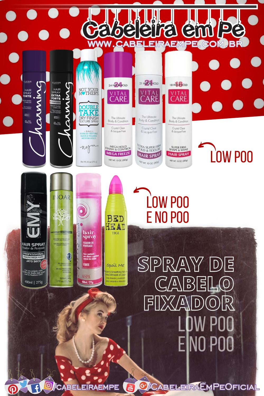 Spray de Cabelo Fixador (Cless, Not your Mother's, Vital Care, Emy Professional, Inoar, Serinet e Tigi)