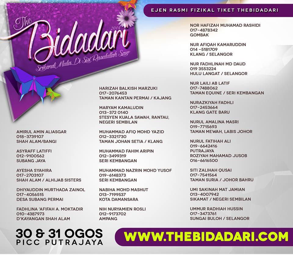 Cara dapatkan tiket ke Konvensyen The Bidadari 2014