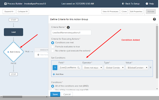Salesforce Easy Learn Lightning Process Builder Calling Apex From Process Builder