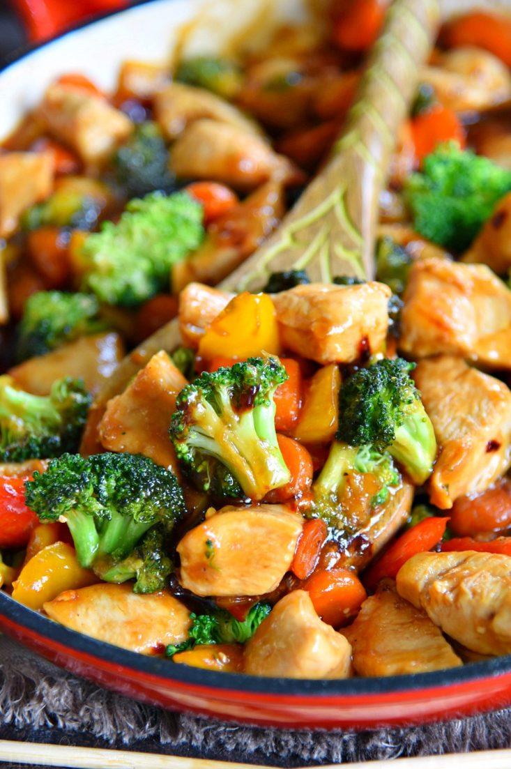 EASY CHICKEN STIR FRY RECIPE #recipe #dinner #familydinner #lunch #food