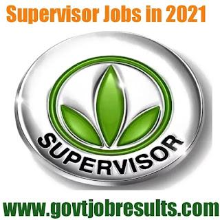 Supervisor Jobs 2020