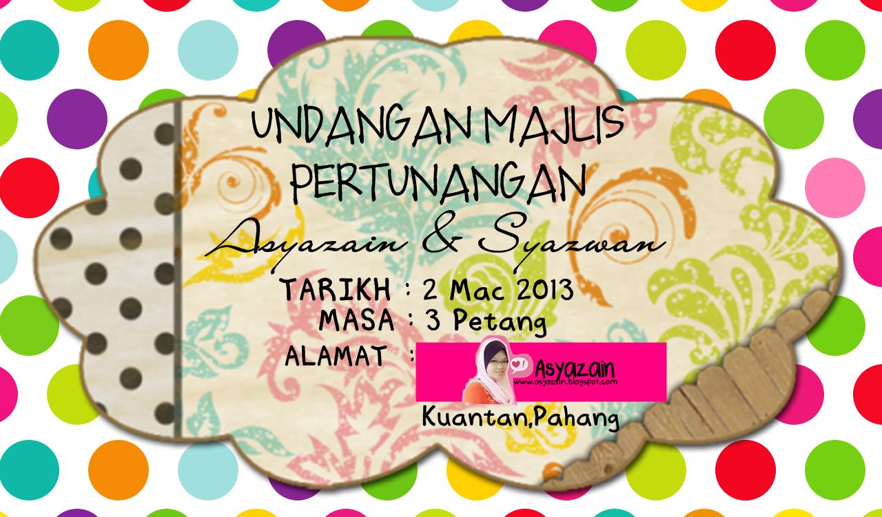Asyazain S Twaddle Part 2 Persediaan E Day Doorgift Invitation Card
