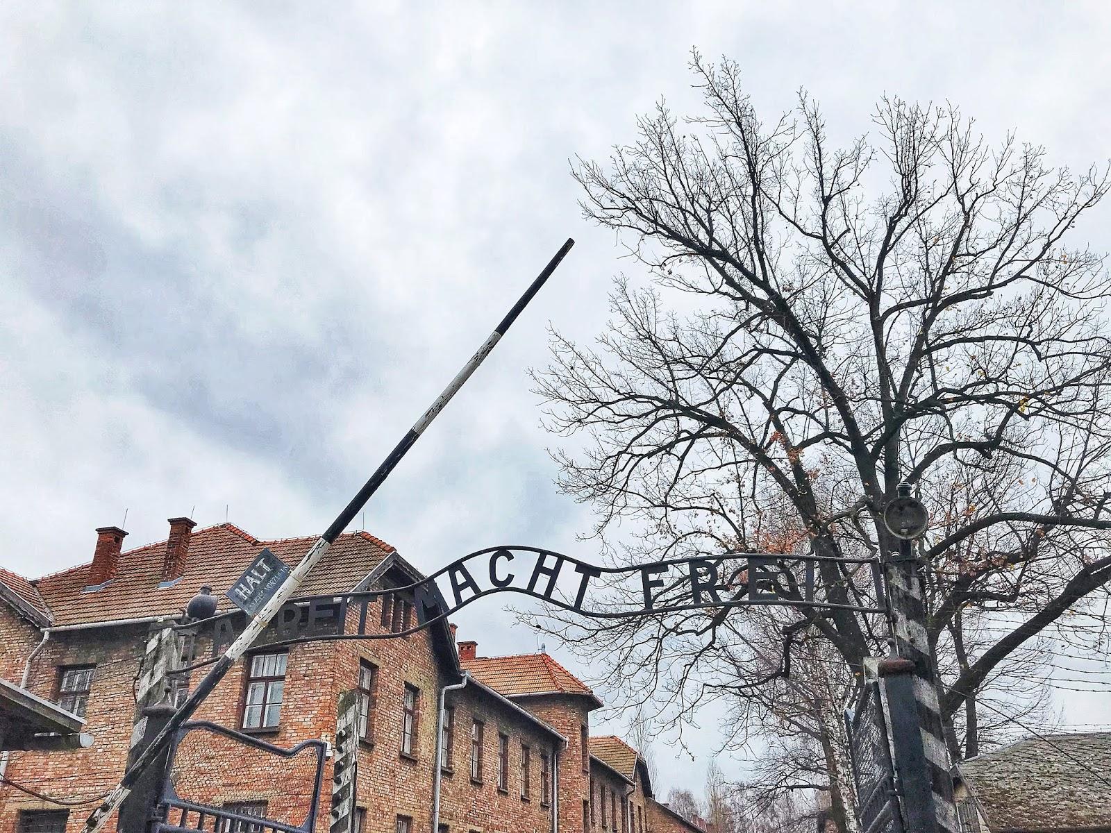 Photo of Auschwitz Arbeit Macht Frei Sign