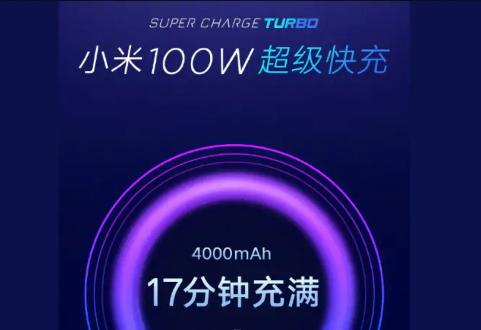 Xiaomi's 100W Super Charge Turbo Fast Charging Tech Coming to Devices Next Year: Reports
