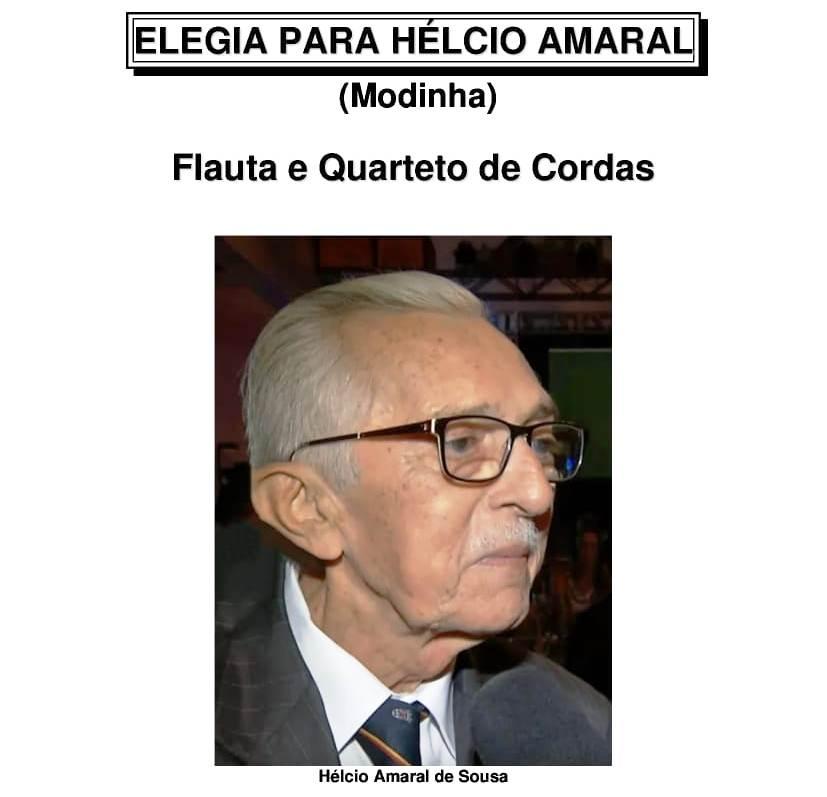 Músico compõe elegia para o historiador Hélcio Amaral, morto há uma semana aos 78 anos