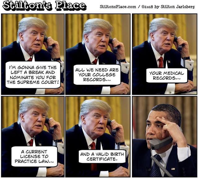 stilton's place, stilton, political, humor, conservative, cartoons, jokes, hope n' change, ginsburg, supreme court, nominee, obama