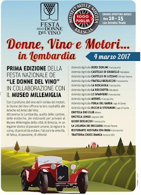 Donne, Vino e  Motori 4 marzo Lombardia 2017