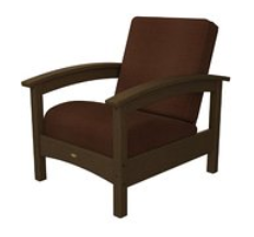 Trex Outdoor Furniture Rockport Club Club Tree House Arm Chair with Chili Sunbrella Cushion