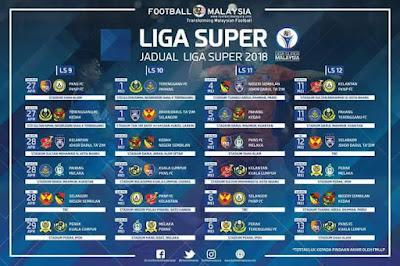 Jadual Perlawanan Pahang Liga Super 2018