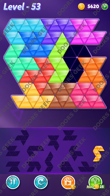 Block! Triangle Puzzle Grandmaster Level 53 Solution, Cheats, Walkthrough for Android, iPhone, iPad and iPod